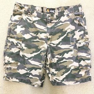 Carhartt Camo Cargo Shorts Relaxed Fit Men's 42